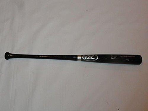 Jon Jay Autographed Baseball Bat - Black Full size Rawlings - Autographed MLB Bats
