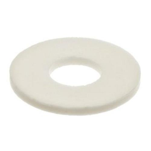 Sealing Nylon Washer - Nylon 6/6 Flat Washer, Plain Finish, Off-White, 1/4