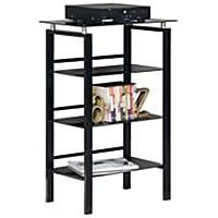 Realspace Lake Point 3-Shelf Bookcase (Black)