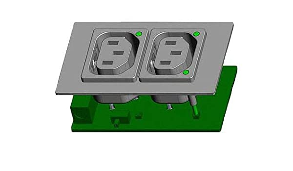 Receptacle Quick Connect Panel Mount 250 VAC SCHURTER 6600.421 Power Entry Connector 10 A 6600-4 Series