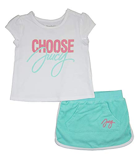 - Juicy Couture Girls' Toddler 2 Pieces Scooter Set, White/Green 4T