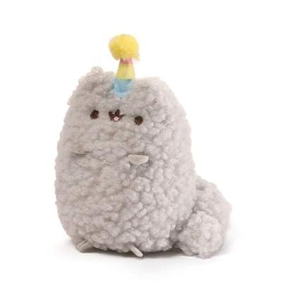 GUND Pusheen and Stormy Birthday Plush Stuffed Animals Collector, Gray, Set of 2: Gund: Toys & Games