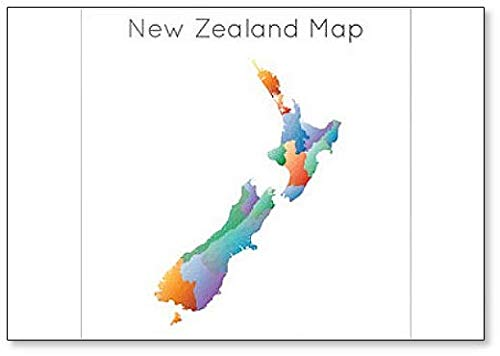 Low Poly Map of New Zealand Fridge Magnet (Outline Map Of Oceania Australia And New Zealand)