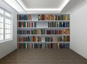 Fake Bookcase 3D Photo Wallpaper Wall Mural Library Room - 2XL ...