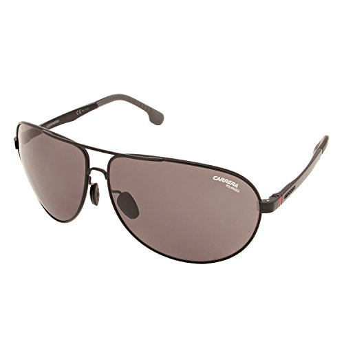 Carrera Men's Ca8023s Polarized Aviator Sunglasses, Matte Black/Gray Polarized, 65 - Carrera Aviator Shades