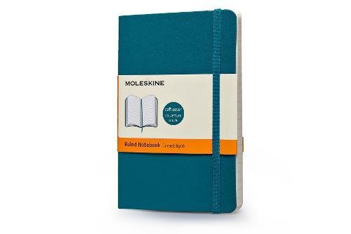 Moleskine Classic Colored Notebook, Pocket, Ruled, Underwater Blue, Soft Cover (3.5 x 5.5)
