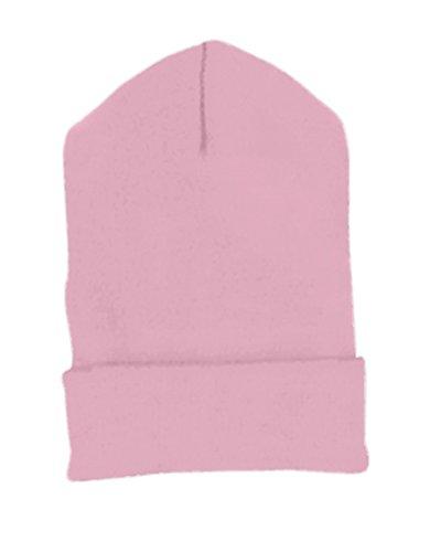 Yupoong Cuffed Knit Cap (1501)- Pink,One - Yupoong 1501 Cuffed Knit Cap