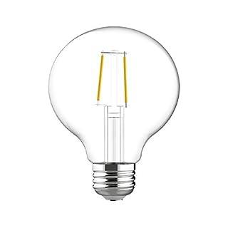 GE Relax HD Globe Dimmable LED Light Bulbs (40 Watt Replacement LED Light Bulbs), 350 Lumen, LED G25 Globe Light Bulbs, Medium Base Light Bulbs, Soft White, Clear Finish, 1-Pack LED Bulbs
