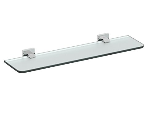 Eviva EVAC80BN Klim Glass Shelf Wall Mount (Brushed Nickel) Bathroom Accessories Combination by Eviva