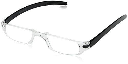 Dr. Dean Edell Slim Vision Reading Glasses, Black (+1.25)