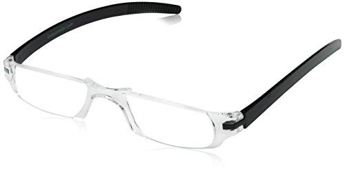 Dr. Dean Edell Slim Vision Reading Glasses, Black - Eco Glasses Frames Friendly