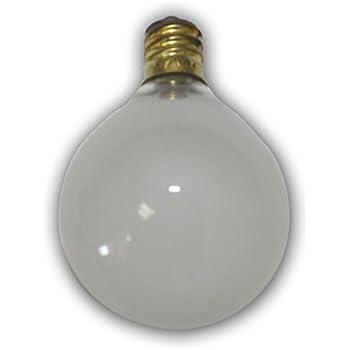 String Light Company C7025f Frosted Candelabra Globe Light