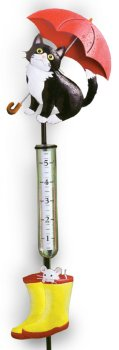 Cat/Boots Rain Gauge Stake
