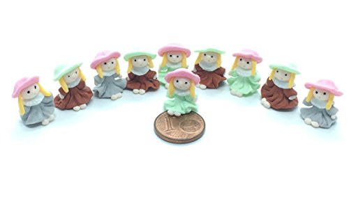 10 pieces of Miniature little girls Figurine for Decoration in Dollhouse, Fairly Garden or Succulent terrarium