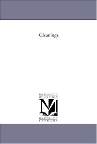 Gleanings. PDF ePub book