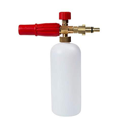 intrbleu Car Wash Snow Foam Lance,for 1/4 M14 Nilfisk High Pressure Washer,Foam Container,Foam Spraying Nozzle,High Pressure Foam Sprayer Cannon