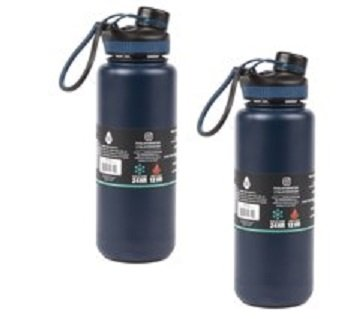 Tal 2 Proのパック水ボトルNavy 40oz二重壁真空断熱ステンレス B07FMF67JQ
