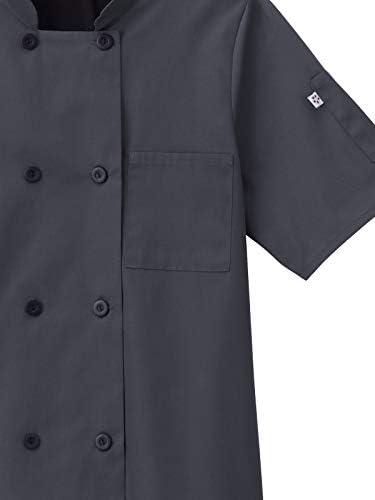 Five Star Chef Apparel Unisex Short Sleeve Stretch Executive Coat