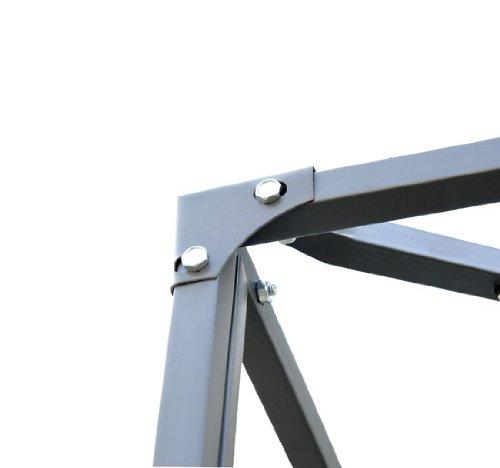 Outsunny 10' x 10' Steel Gazebo Frame - Leaf Design