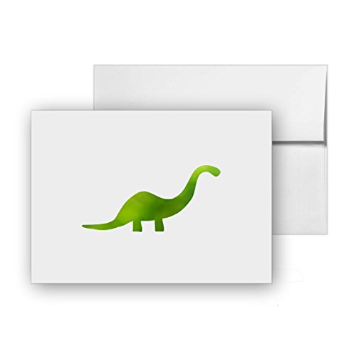 Prehistoric Animals Card - Dinosaur Animal Prehistoric, Blank Card Invitation Pack, 15 cards at 4x6, with White Envelopes, Item 247139