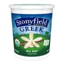 Stonyfield Organic Vanilla Nonfat Greek Yogurt, 32 Ounce -- 6 per case.