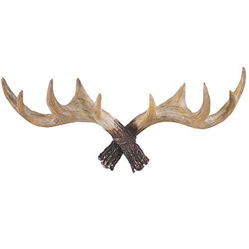 KBAI 3D Wall Decoration Sculpture, Nordic Animal Deer Head Wall Mount Resin Art Crafts Creative Hanger Coat Hook Rack Wall Hanging Decorations (Color : B)