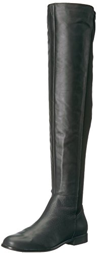 Opportunity Shoes - Corso Como Women's LANDOW Over The Knee Boot, Black Soft Calf, 8.5 Medium US