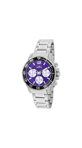 Invicta Pro Diver Lady Chronograph Purple Dial Ladies Watch 25748 (100m Ladies Watch)