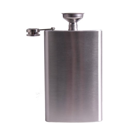 Stainless Steel 10oz Hip Drink Liquor Whisky Alcohol Flask Screw Funnel Cap - 2