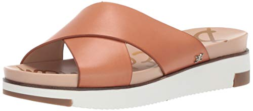 Sam Edelman Women's Audrea Sandal, Natural Buff Leather, 7.5 M US Double Criss Cross Sandal