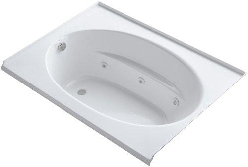 Windward Whirlpool Tub - Kohler K-1112-L-0 Windward 5Ft Whirlpool with Three-Sided Integral Tile Flange and Left-Hand Drain, White
