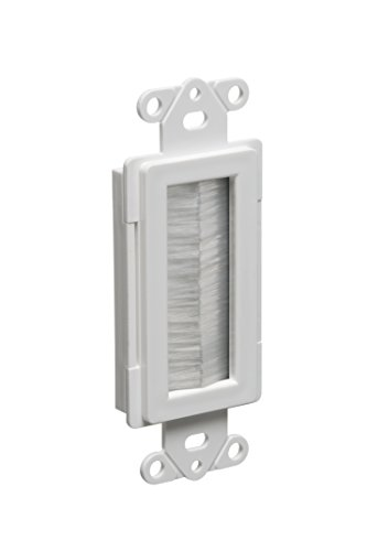 Arlington Industries CED135-1 Cable Entry Device with Brush-Style Opening, 1-Gang, White, (Opening Device)