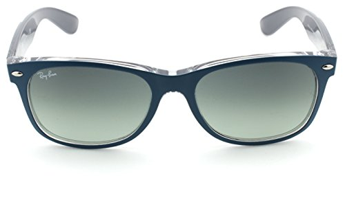 Ray Frame grey Unisex Petroleum Lens Rb2132 Wayfarer Sunglasses ban Gradient New 619171 Matte On Grey wPqwr