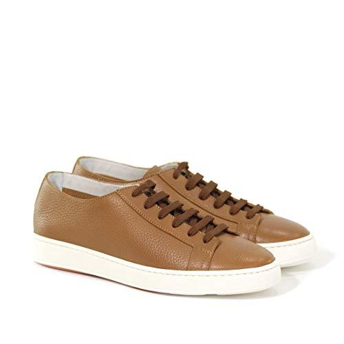 Santoni Sneakers Uomo Mbcn14387ba6cmiac50 Pelle Marrone wPkN80XOZn
