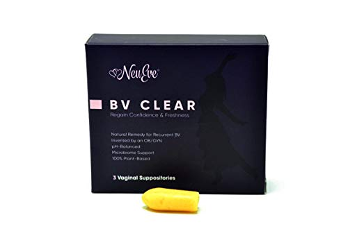 NeuEve® Suppository BV Clear - Clearing Feminine Odor & Discharge Rapidly - Using Regularly Blocks Recurrent BV from Coming Back - Natural Cleanser/Deodorant (Refrigerate Before Use in Hot Weather)