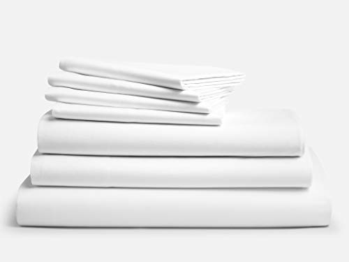 - Brooklinen Luxe 7 Piece Bed Sheet Set - 100% Long Staple Cotton - King White