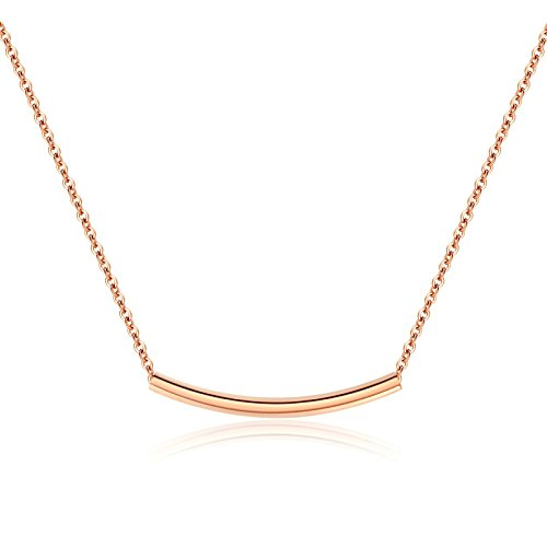 Gold Silver Bali Circle Pendant - Aokarry Women's Stainless Steel Pendant Necklace Circle Rose Gold 3.5CM