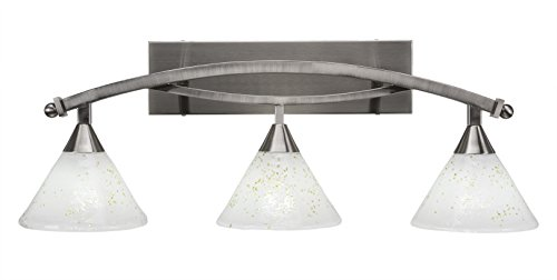 Toltec Lighting Bow 3 Light Bath Bar with 7