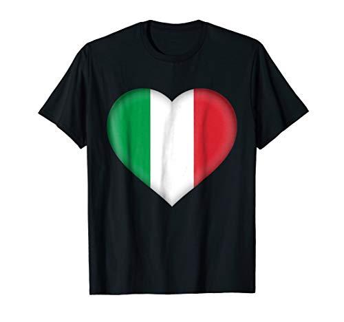 I Love Italy T-Shirt | Italian Flag Heart Outfit