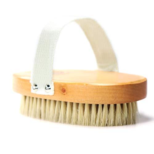 Dry Brushing Body Brush, 100% Natural Bristle Brush Exfoliate Your Sensitive Skin (Soft) Remove toxins for healthier skin