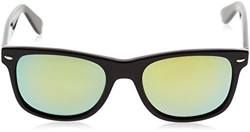 Ocean Sunglasses Beach wayfarer - lunettes de soleil polarisées - Monture : Noir Laqué - Verres : Revo Jaune (18202.2) yF3Xy