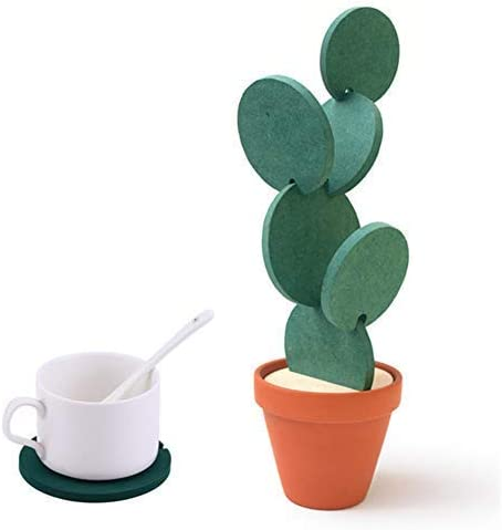 Acrylic Cactus Succulent Coasters  Choice of 4 designs or choose a whole set Home Decor  Drinks Accessories  Gift Present  DD559