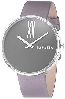 بافاريا ساعة رسمية رجال انالوج بعقارب جلد - 52527