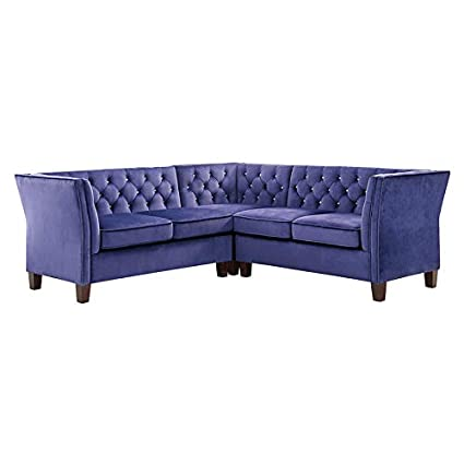Amazon Sectional Sofa With Chaise 3 Pieces Set Modern Velvet