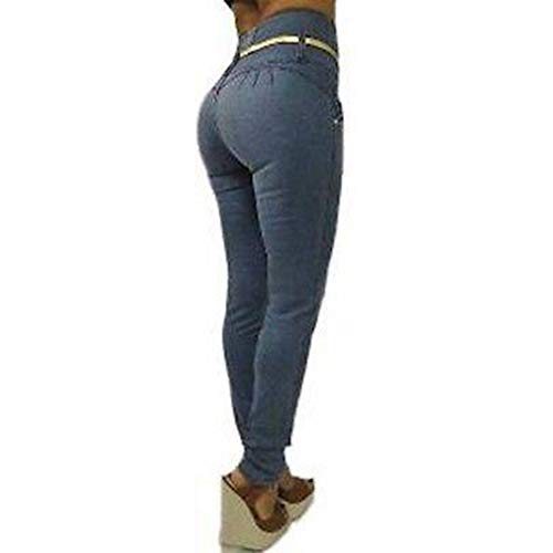 Unie Butt Plusieurs Dames Rise S Pantalon Haute 2Xl Pieds Sexy Bleu Femme Jeans lastiques Fit Slim Pantalons Couleur Styles Petits Taille Jeans gris Simple XqUwxzU