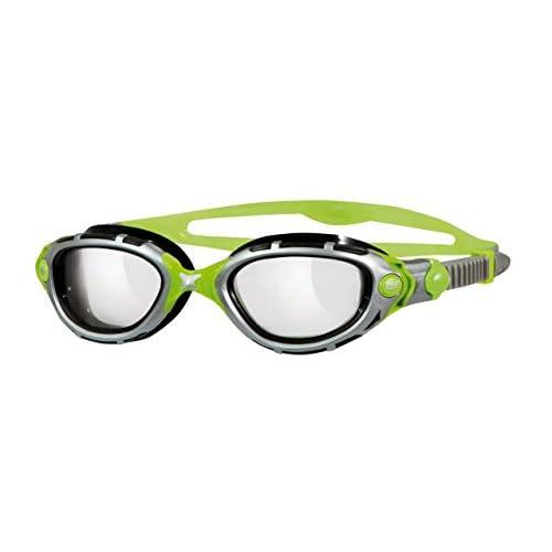 Zoggs Predator Flex Reactor Titanium Swimming Goggle (Silver/Green)