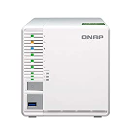 "QNAP TS-332X 3-Bay 64-bit NAS with Built-in 10G Network. Quad Core 1.7GHz, 2GB RAM, 1 X 10GbE (SFP+), 2 X 1GbE, 3 X 3.5/2.5"" Drive Slots, 3 X M.2 SATA 2280 Slots, RAID 0/1/5 7 AL324 64-bit quad-core 1.7GHz, 2GB DDR4 SODIMM RAM (1 x 2GB, max 16GB) 3 x 3.5""/ 2.5"" Drive slots, 3 x M.2 SATA 2280 slots, 1 x 10GbE SFP+ LAN, 2 x GbE LAN, hardware encryption Build a secure RAID 5 array with three disks for optimized storage capacity and protection against one Disk failing."