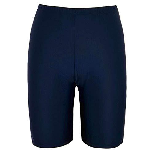 Board Shorts Women's Swimwear Sport Sunscreen Elastic Swim Bottom High Waist Skinny Capris Swim Shorts Chaofanjiancai Navy