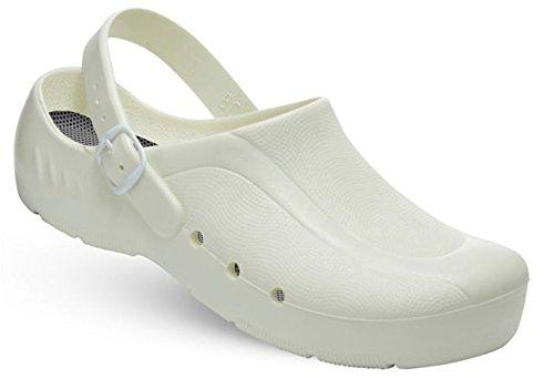 niveau oP Fersenriemen oRTHOClogs Schürr et au unisexe avec chaussures mit sans du talon Weiß Blanc 8Bwqw56x