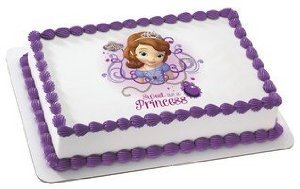 Sofia The First Edible Icing Image Cake Cupcake and Cookie Topper (1/4 Sheet) -